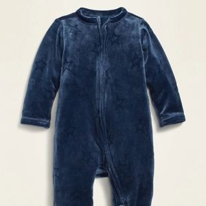 Old Navy | Velour Footed Onesie